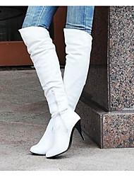 Mujer Botas Confort Otoño Invierno PU Casual Blanco Negro Marrón Azul 5 - 7 cms