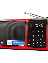 F60 Radio portatil Reproductor MP3 Tarjeta TFWorld ReceiverRojo Azul