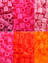 Approx 500PCS/Bag 5MM Fuse Beads Hama Beads DIY Jigsaw EVA Material Safty for Kids