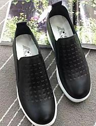 Women's Loafers & Slip-Ons Comfort PU Winter Casual Black 2in-2 3/4in