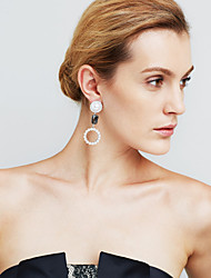 Women's Earrings Set Imitation Pearl Sexy Movie Jewelry Euramerican Fashion Personalized Statement Jewelry Copper Circle Jewelry For