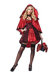Costumes de Cosplay Bal Masqué Conte de Fée Déesse Cosplay Fête / Célébration Déguisement d'Halloween Rouge Autres Rétro Robes Chapeau