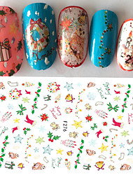 1pcs Creative Christmas Gift Nail Art 3D Sticker Happy Xmas Lovely DIY Decoration For Manicure Beauty F276