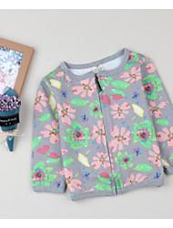 Girls' Print Jacket & Coat,Cotton Fall Long Sleeve