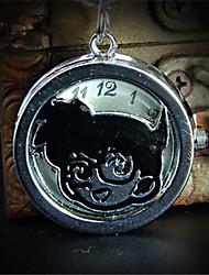 Муж. Детские Часы-брелок Кварцевый сплав Группа Мультфильмы Серебристый металл