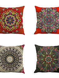 Set Of 6 Classic Bohemia Gorgeous Flowers Pillow Case Bohemia Design Printing Pillow Cover