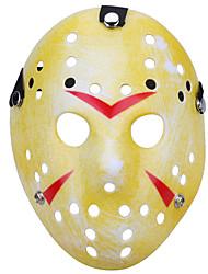 Хэллоуин новый пористый Джейсон убийца маска старый выцветший желтый толстый 13-й ужас хоккей косплей маска карнавал маскарад участник