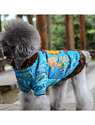 Dog Coat Dog Clothes New Year's Letter & Number Blue Yellow