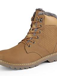Для мужчин Ботинки Зимние сапоги Ботильоны Формальная обувь Обувь для дайвинга Флисовая подкладка Удобная обувь ЗимаНатуральная кожа