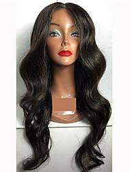 жен. Бразильские волосы Натуральные волосы Лента спереди Бесклеевая кружевная лента 150% плотность С пушком Естественные кудри Парик