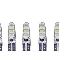 5pcs 2w dc12v белый t10 smd5630 6led 180lm декоративная лампа для чтения лампа номерной знак свет дверь