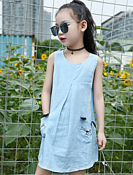 Girl's Solid Dress,Cotton