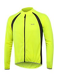 Arsuxeo Maglia da ciclismo Per uomo Manica lunga Bicicletta Maglietta/Maglia Striscia riflettente Asciugatura rapida Traspirabilità