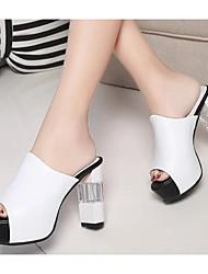 Damen Sandalen Komfort Pumps PU Sommer Normal Weiß Schwarz Rot 7,5 - 9,5 cm