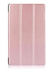 Caja de cuero de la PU del patrón del color sólido con el soporte para la lengüeta 4 8 del lenovo (tb-8504f / n) PC de la tableta de 8