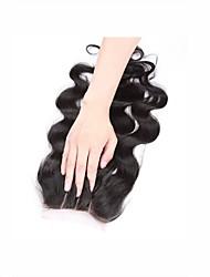 4x4inch fermeture à glissière à lacet bouclé et bouclé remy cheveux à cheveux cheveux 8-20 pouces 3 partie