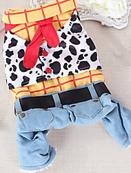 Dog Clothes/Jumpsuit Dog Clothes Casual/Daily Jeans Yellow