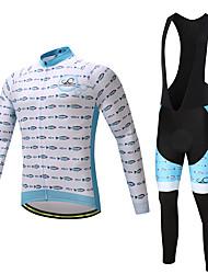 Велокофты и велокомбинезоны Муж. Длинный рукав Велоспорт Велоспорт Колготки Биб Колготки Брюки Джерси Верхняя часть Наборы одежды