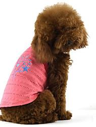 Cachorro Vestidos Roupas para Cães Casual Estrelas Roxo Fúcsia Verde