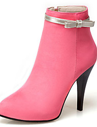 Women's Shoes Stiletto Heel Pointed Toe Ankle High Boot with Bowknot More Color Available