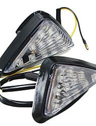Ziqiao 1 par de motocicleta de la motocicleta claro empotrar montaje girar la señal de luz lámpara led ámbar indicador intermitente luces