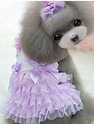Chien Robe Vêtements pour Chien Décontracté / Quotidien Princesse Violet Jaune Vert Bleu Rose