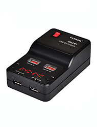 Cargador usb 4 puertos Estación de cargador de escritorio Con Interruptor (es) Con identificación inteligente Pantalla LCD Universal