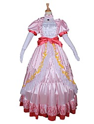 Une Pièce/Robes Princesse Conte de Fée Cosplay Fête / Célébration Déguisement d'Halloween Rétro Robes Ceinture de Tour de TailleHalloween