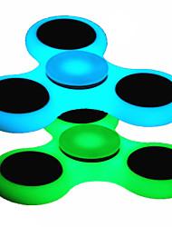 Fidget spinners Hilandero de mano Peonza Juguetes Juguetes Tri-Spinner Metal Luminiscente EDCAlivia ADD, ADHD, Ansiedad, Autismo Alivio