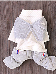 Dog Clothes/Jumpsuit Dog Clothes Casual/Daily Solid White