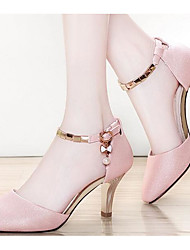Women's Sandals Comfort PU Summer Casual Blushing Pink White 2in-2 3/4in