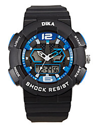 Men's Digital Watch Digital Rubber Band Black Blue