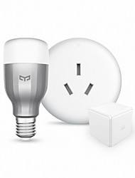Xiaomi Smart Home Devices include Yeelight RGBW Smart LED Bulb and Mi Home Air Conditioner Companion and Magic Controller Kit