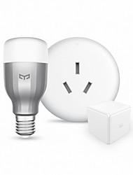 9W Lampadine LED smart 19 600 lm RGB + Bianco Controllo APP Oscurabile Controllo a distanza Wi-fi V 1 set E27