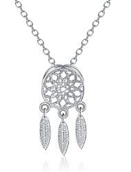 Жен. Ожерелья с подвесками Бижутерия Геометрической формы Стерлинговое серебро Сделай-сам Pоскошные ювелирные изделия Chrismas Классика