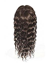 Uniwigs remy человеческие волосы моно волосы шитье верхняя часть волос кусок мокрой волны темно-коричневый цвет 16 дюймов для выпадения