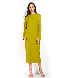 Women's Holiday Going out Casual/Daily Club Sexy Street chic Sheath Dress,Striped One Shoulder Midi Sleeveless Polyester Fall WinterHigh