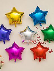 10 Piece / Set The 10-Inch Aluminium Film Balloon / 10-Inch Pentagram Aluminum Balloon Wedding Decoration Balloon