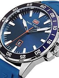 Herrn Sportuhr Modeuhr Armbanduhr Einzigartige kreative Uhr Armbanduhren für den Alltag Quartz Kalender Silikon BandBettelarmband Cool