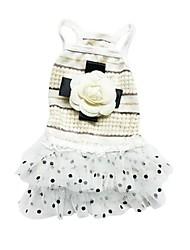 Chien Robe Vêtements pour Chien Décontracté / Quotidien Princesse Beige Rose