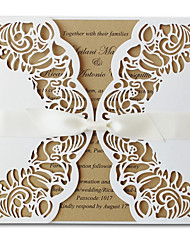 White Wedding Invitations Unique Wedding Invitation Cards - Set of 50