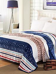 Coral fleece Stars Polyester Cotton Blend Blankets