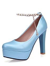 Damen High Heels Walking Komfort Neuheit Leuchtende Sohlen formale Schuhe Leder maßgeschneiderte Werkstoffe Frühling HerbstHochzeit