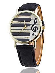 XU Women's Keyboard Notes Casual Quartz Wrist Watch