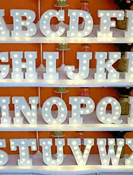 26 lettere l'alfabeto notte ha condotto la decorazione della parete della lampada per l'arredamento di nozze della camera da letto dei bambini