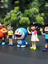 Diy pendentes automotivos cartoon anime dora um boneco mecânico de sonho conjunto carro pendente&Ornamentos de plástico