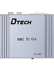HDMI 1.4 Конвертер, HDMI 1.4 to VGA 2RCA Конвертер Female - Female
