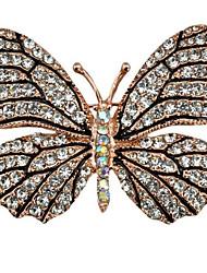 Жен. Броши Стразы Животный дизайн Сплав В форме животных Бабочка Бижутерия Назначение Для вечеринок Повседневные Новый год