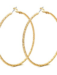 Lureme Brass Diamond Cut Hoop Earrings for Women (56mm Diameter)-18K Gold