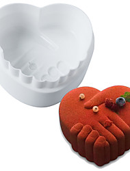 White Silicone Romantic Love Peace Hand Baking Molds Brownie Mousse Chiffon Sponge Decorating Accessories Cakes Pans Mold